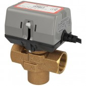 Honeywell VC4013 actuator valve EPE, 230V/50Hz, cable connection + three-way valve (DN25)